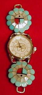 Ladies Sunface Watch Tips, Stone and Shell Feathers